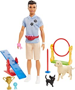Barbie Ken Dog Trainer Playset with Doll and Accessories