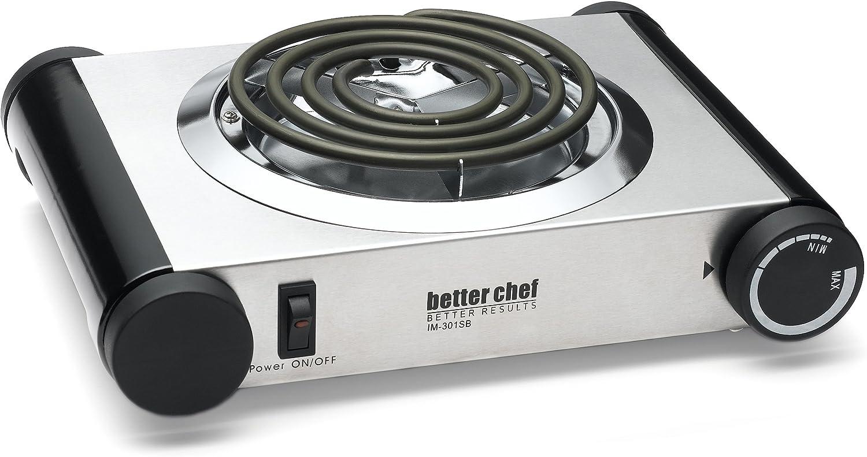 Silver//Black Better Chef IM-301SB Buffet Burner