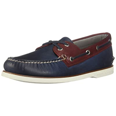 Sperry Men\'s, Gold Cup Authentic Original Boat Shoe (10.5, Navy/Red): Shoes [3Bkhe1200225]