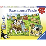 Ravensburger Cats and Dogs Puzzle 3x49pc,Children's Puzzles