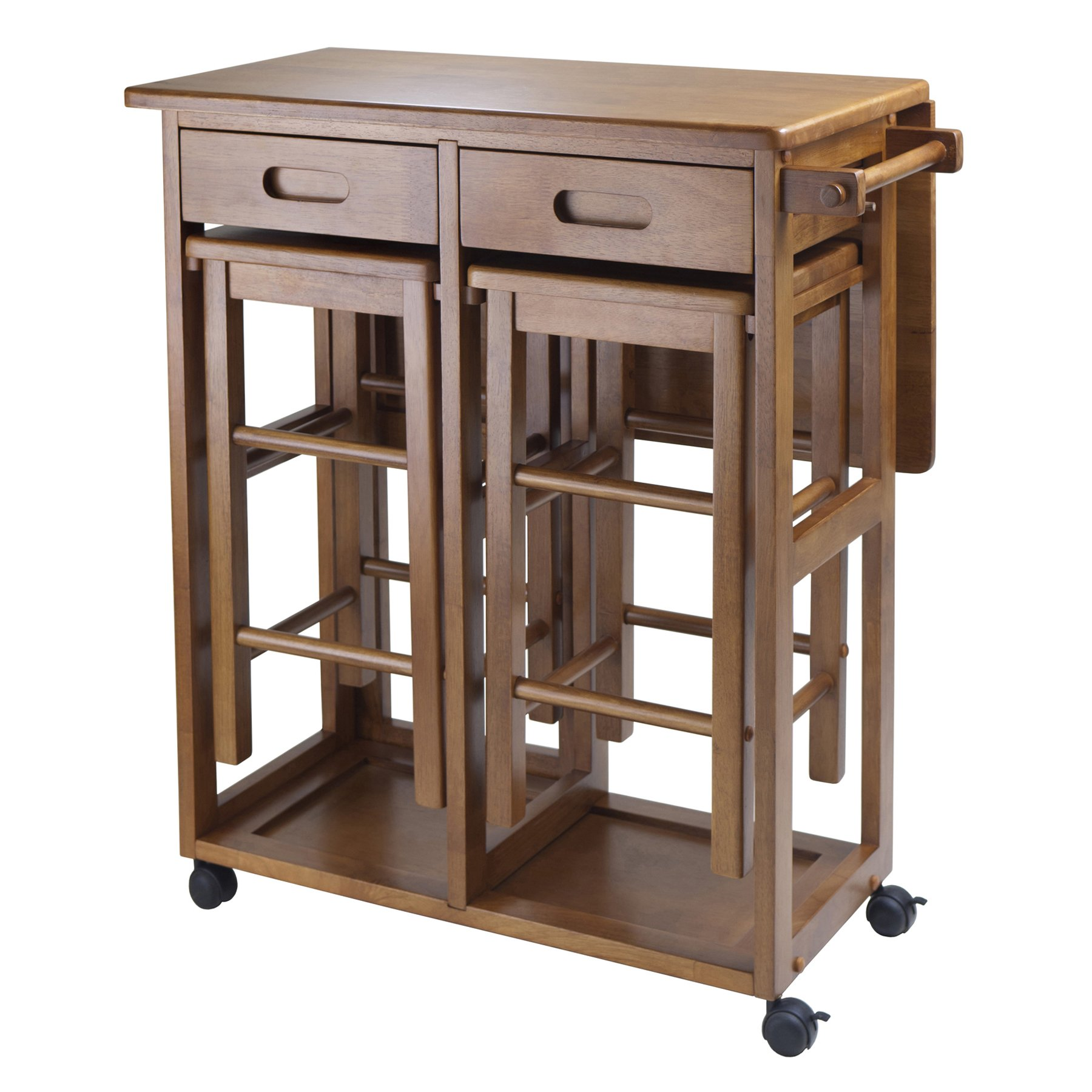 Winsome 39330 Suzanne Kitchen, Square, Teak by Winsome