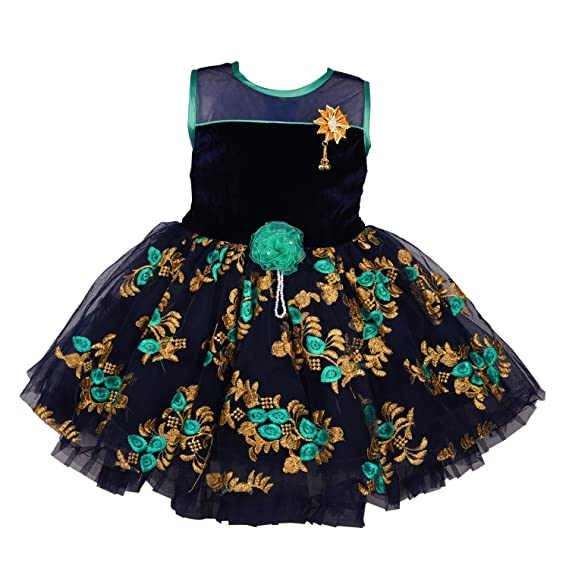 61fe5aae1 Wish Karo Baby Girls Party Wear Frock Dress DN fe2177g: Amazon.in ...