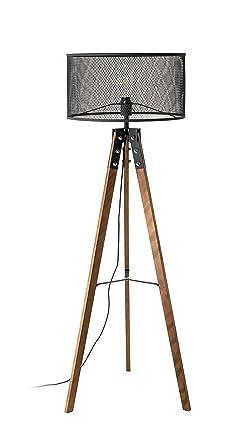 Pie 150 cm retro madera con interruptor de pie con pantalla ...