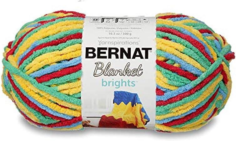 Bernat Blanket Yarn Brights Raspberry Ribbon Varg