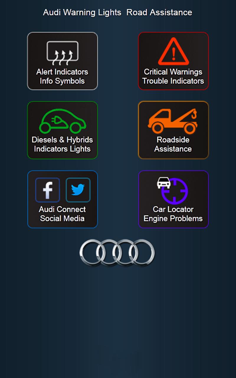 Audi Car Problems Audi Warning Lights Audi Drivers Assistance