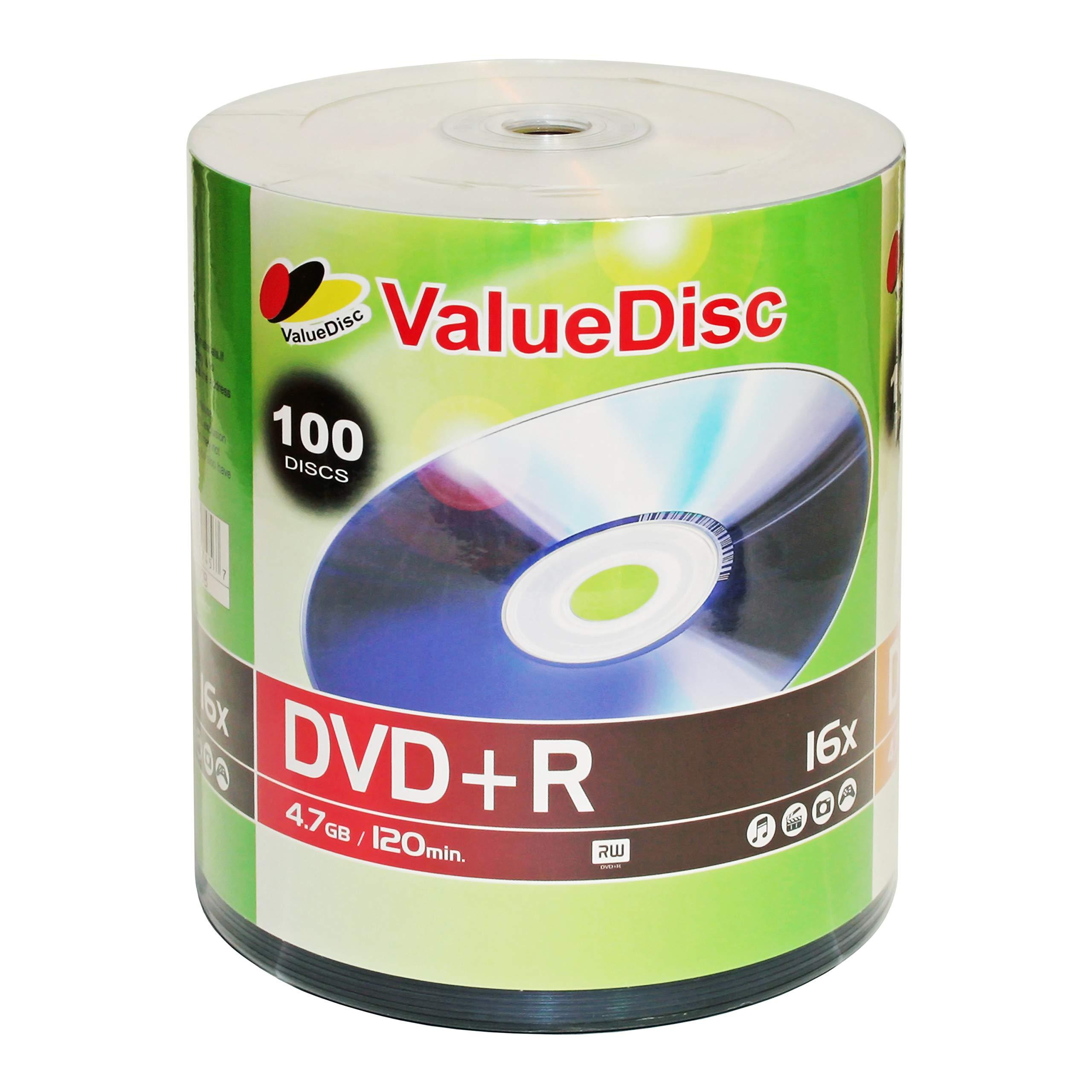 ValueDisc,DVD+R 16x 4.7GB/120 Minute Disc 100-Pack