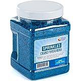 Blue Sprinkles Bulk - Baby Shower Sprinkles - Blue Sprinkles in Resealable Container, 1.6 LB Bulk Candy