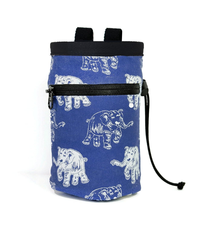 chaandu Laughing Elephant Chalk Bag with Pocket & Belt for Rock Climbing