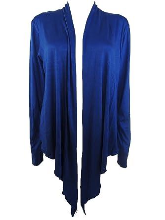 ff4d84a57eac2d 10 Farben Damen Bolero Jacke Gr. 44 46 48 50 52 54 (Blau): Amazon.de:  Bekleidung
