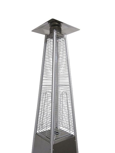 Estufa Fungo con forma de pirámide, a gas, de acero, para exterior ...