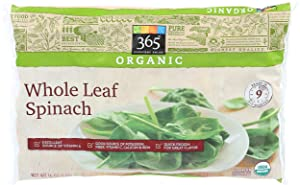 365 Everyday Value, Organic Whole Leaf Spinach, 16 oz, (Frozen)
