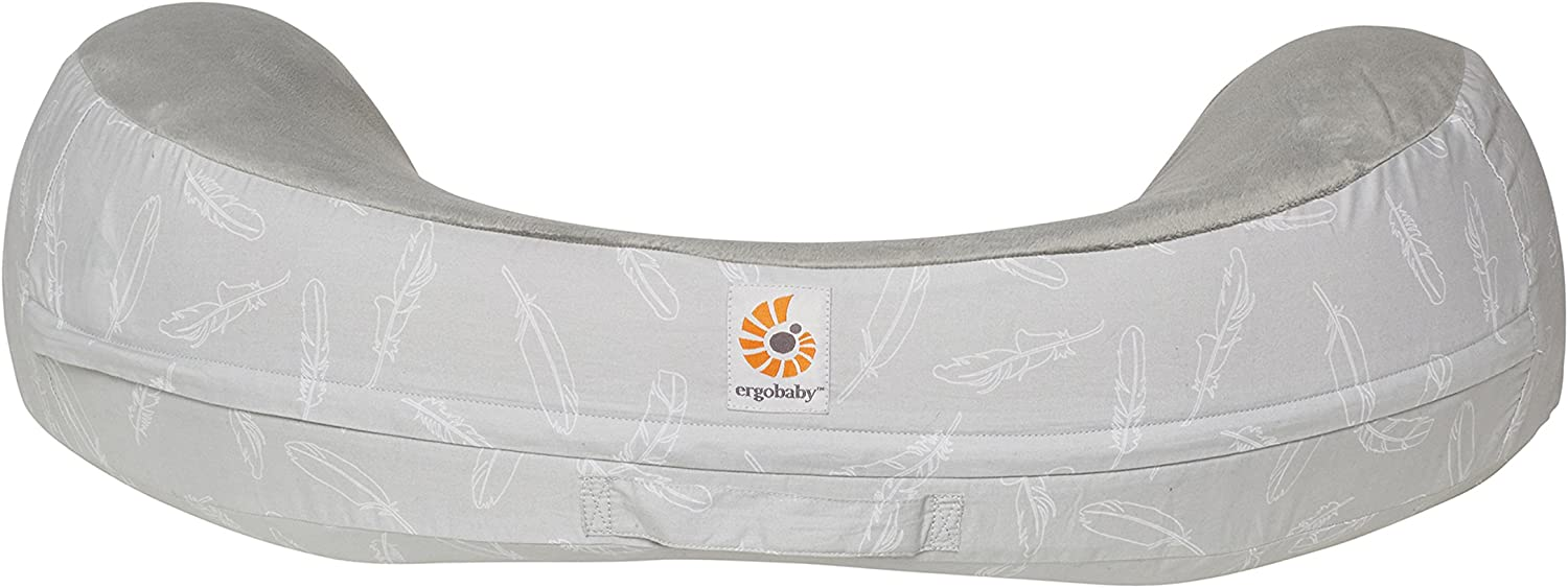 Ergobaby Natural Curve Nursing Pillow Plus Washable Cover Falling Feathers