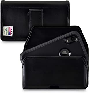 product image for Turtleback Holster Designed for iPhone 11 (2019) & XR (2018) Fits with OB Defender, Black Leather Belt Case Pouch with Executive Belt Clip, Horizontal Made in USA