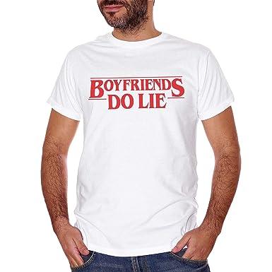 CUC - Camiseta Blanca de Boyfriends Lie, Friends Dont Lie, Eleven ...