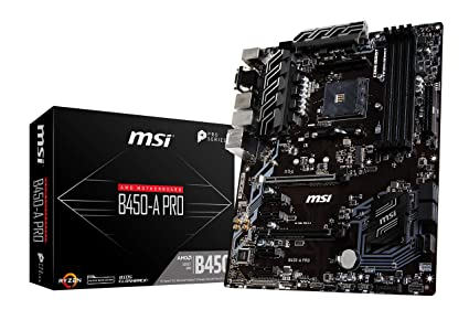 MSI B450-A Pro - Placa Base (AM4, AMD B450, 1 x PCI-E 3.0 x16 Slot ...