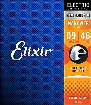 Elixir 12027 - Juego de cuerdas para guitarra eléctrica.009-0.046