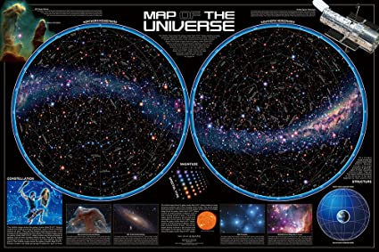 Amazon Com World Of Peace 1000 Map Of The Universe Star