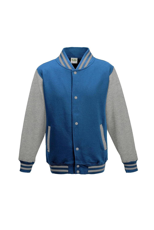 f9e50bdcd0a Amazon.com  AWDis Hoods Boys  Varsity Letterman Jacket  Clothing