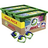 Ariel 3en1 PODS Detergente en Cápsulas Superconcentrado: Limpia y Mantiene el Brillo del Color - 114 Lavados (3 x 38)