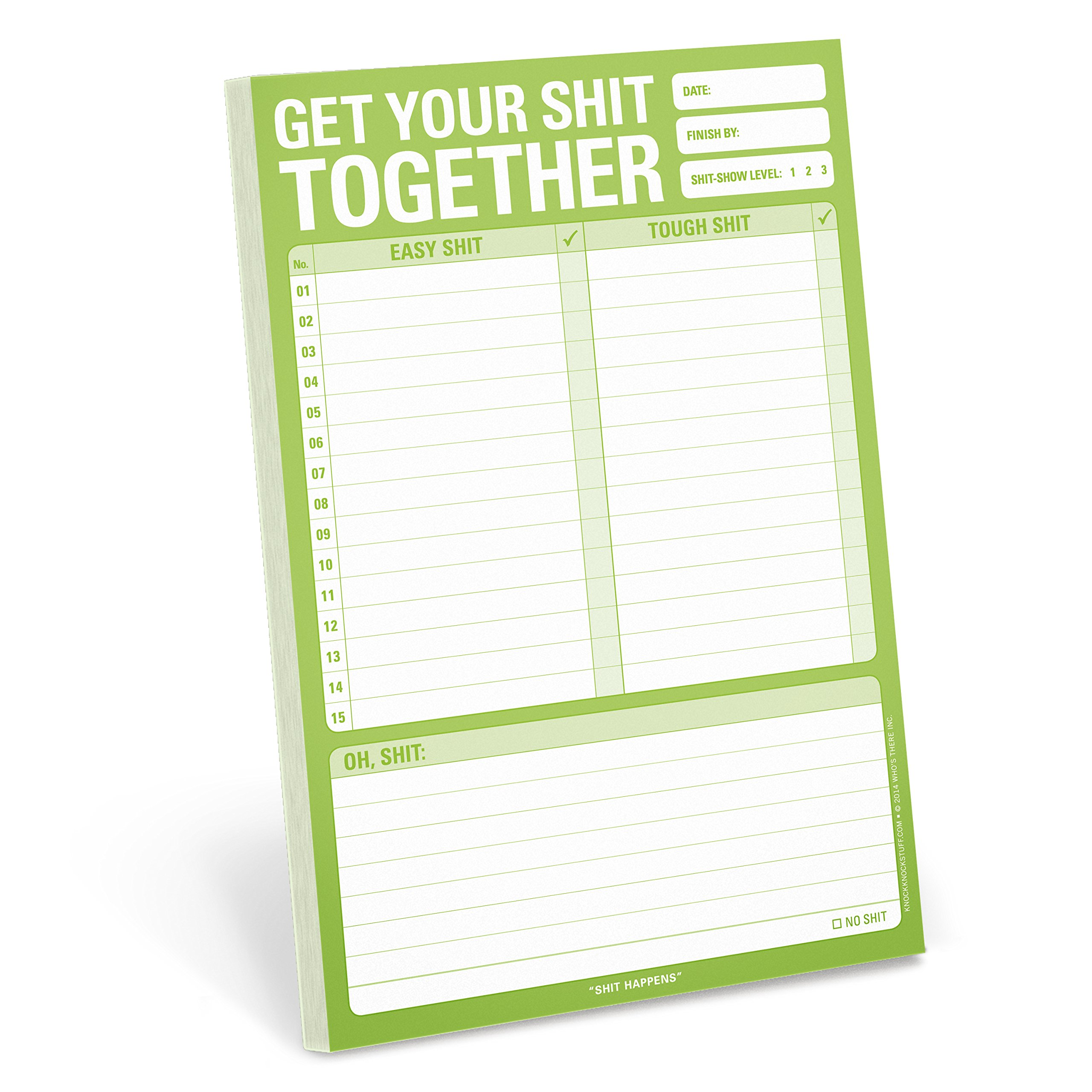Knock Knock Get Your Shit Together Note Pad (12267)