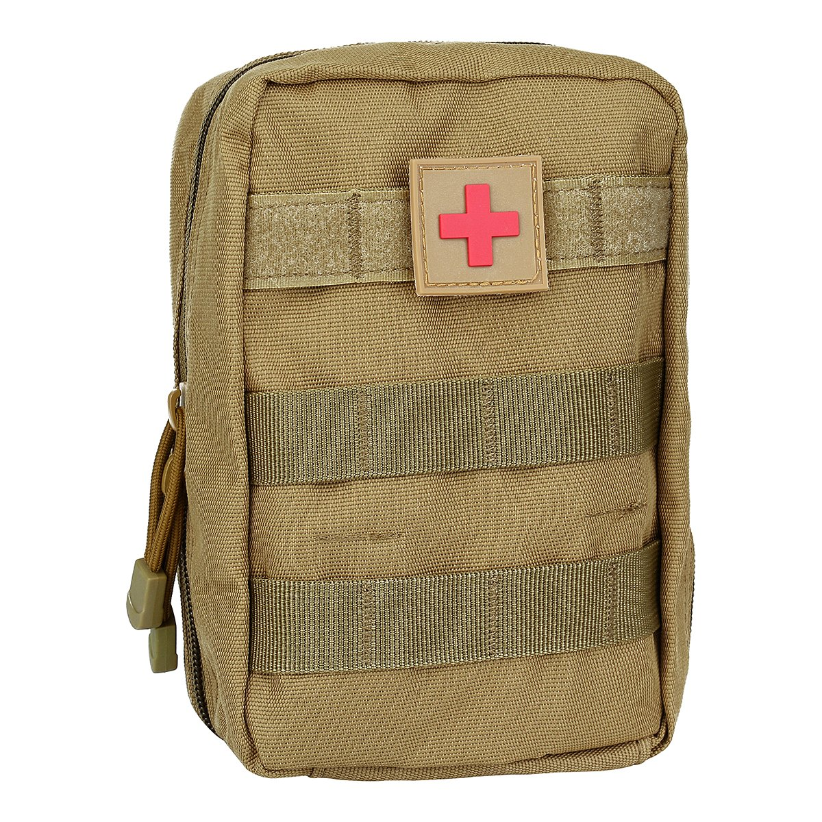Molle pouches - Tactical MOLLE EMT Medical First Aid IFAK Blowout Utility Pouch (Bag Only), 1pcs Molle pouch, Tan and Black Color for Optional Weiye