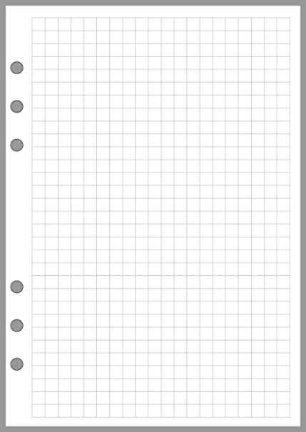 amazon com a5 size graph paper refill sized and punched 6 ring a5