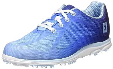 Footjoy Damen Empower Golfschuhe, Mehrfarbig (Orange/Blau), 38 EU