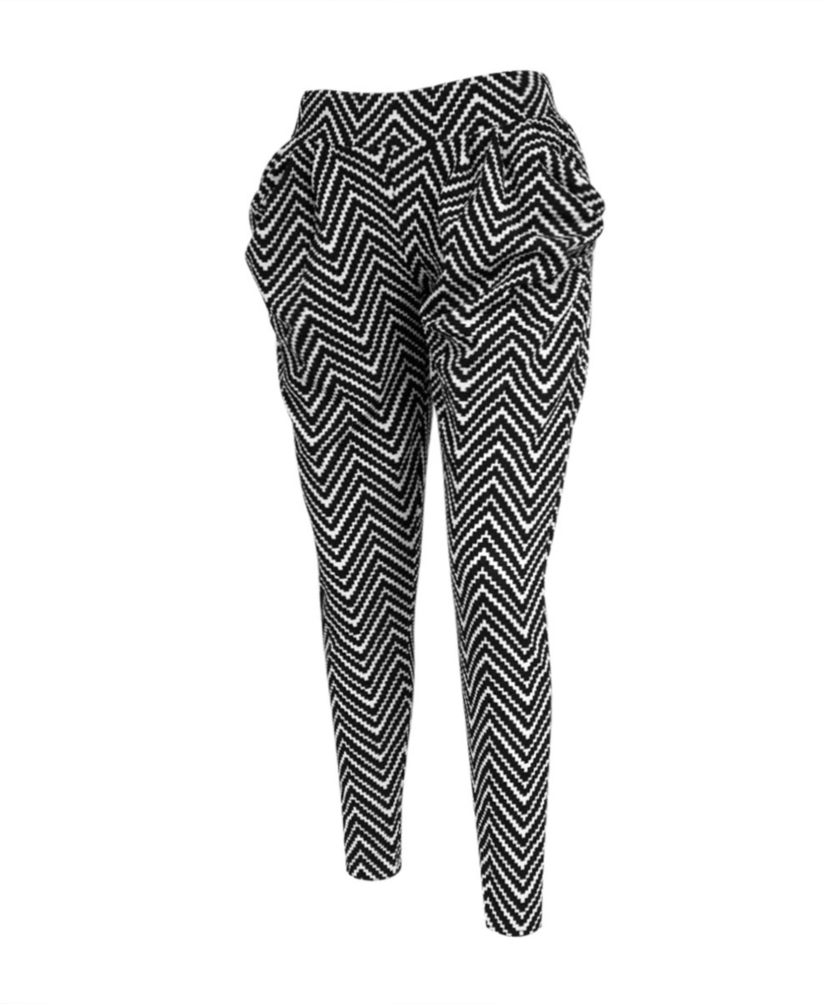 boxed-gifts Zigzag Harem Pants (S/M)