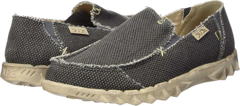 Dude Shoes Farty Natural Negro Hombres Deslizar//Mula UK7//EU41