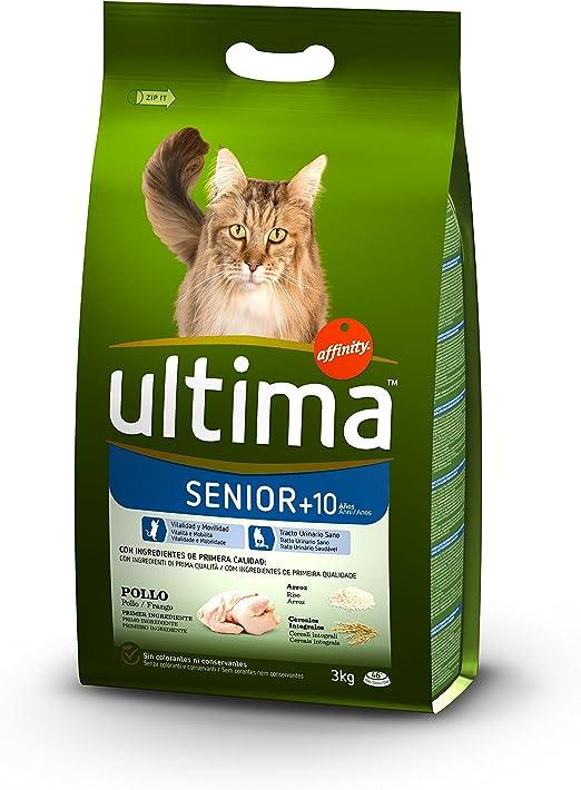 Ultima Pienso para Gatos Senior +10 años con Pollo: Amazon.es: Productos para mascotas