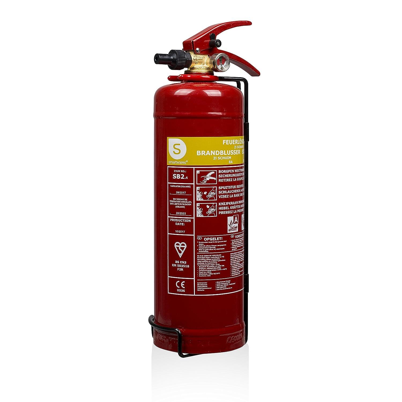 Smartwares 10.014.97 Extintor-2 litros de Espuma Resistencia al Fuego AB SB2, Rojo SW SB2