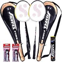 Silver's Fire Badminton Racquet (2 Racquets, 1Box S/C Marvel, 2 PVC Grips)