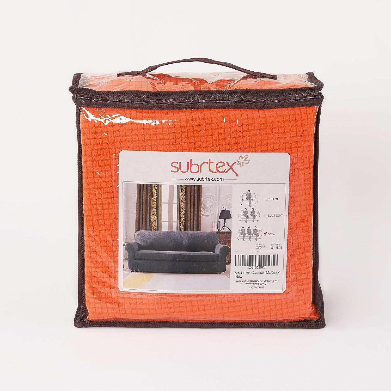 Subrtex 1 Piece Spandex Stretch Slipcover Sofa Sand Sofa Covers