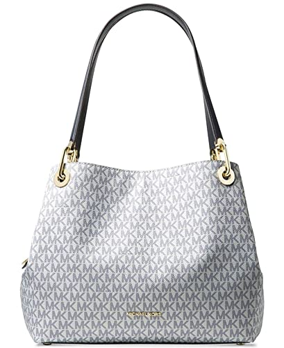a2c619d5d136 Amazon.com  MICHAEL Michael Kors Raven Large Logo Signature Leather  Shoulder Bag