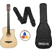 Breve BRE-38C-NT Acoustic Guitar with Bag (Natural)