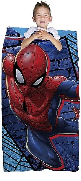 Franco Spiderman Niños Bolsa de dormir con integrado – Juego de mochila, bolsa de dormir