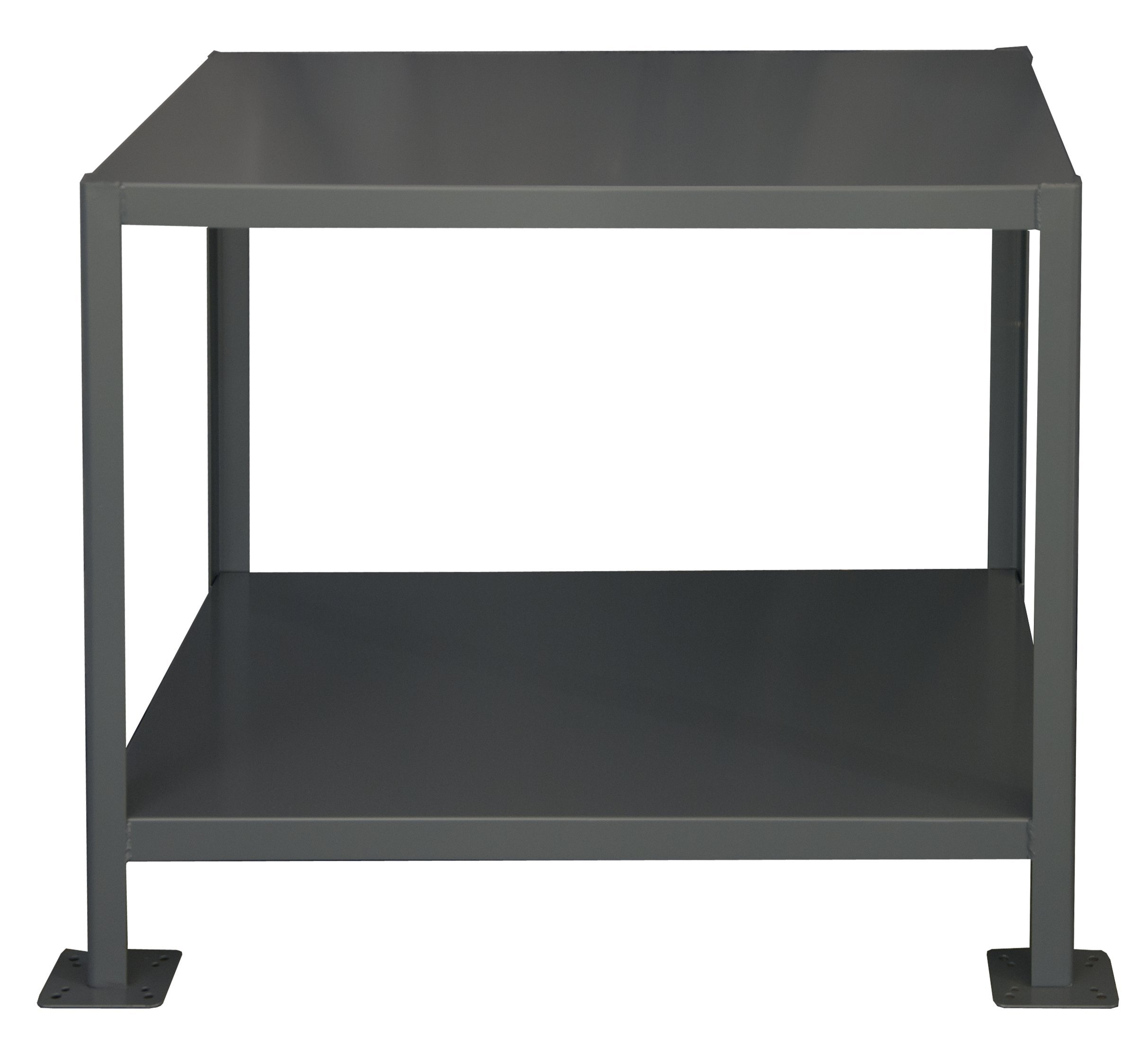 Durham Steel Heavy Duty Machine Table, MT364836-3K295,  2 Shelves,  3000 lbs Capacity,  48'' Length x 36'' Width x 36'' Height by Durham