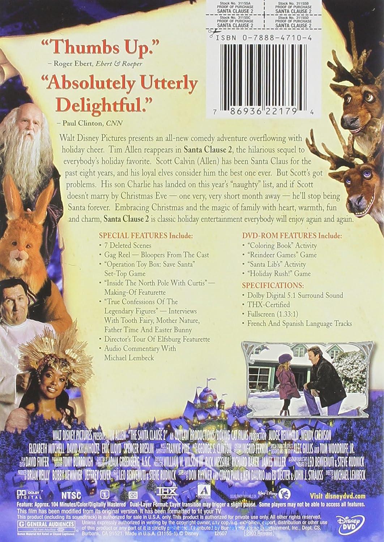 amazoncom santa clause 2 full screen edition tim allen elizabeth mitchell david krumholtz eric lloyd judge reinhold wendy crewson spencer breslin - Books About Santa Claus 2