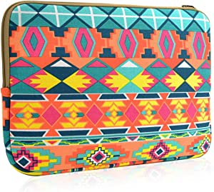 """TOP CASE Bohemian Style Canvas Fabric Laptop Sleeve Bag Case Cover Ford MacBook 12"""" 12-Inch Model: A1534 Retina Noteboook"""