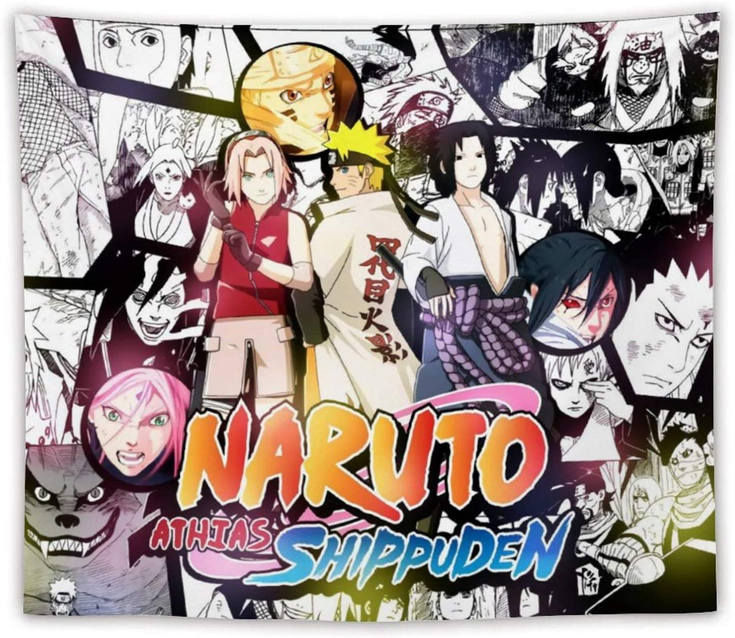Twaowaka Naruto Tapestry Wall Hanging Decoration Tapestries Dorm Decor for Living Room 50x60