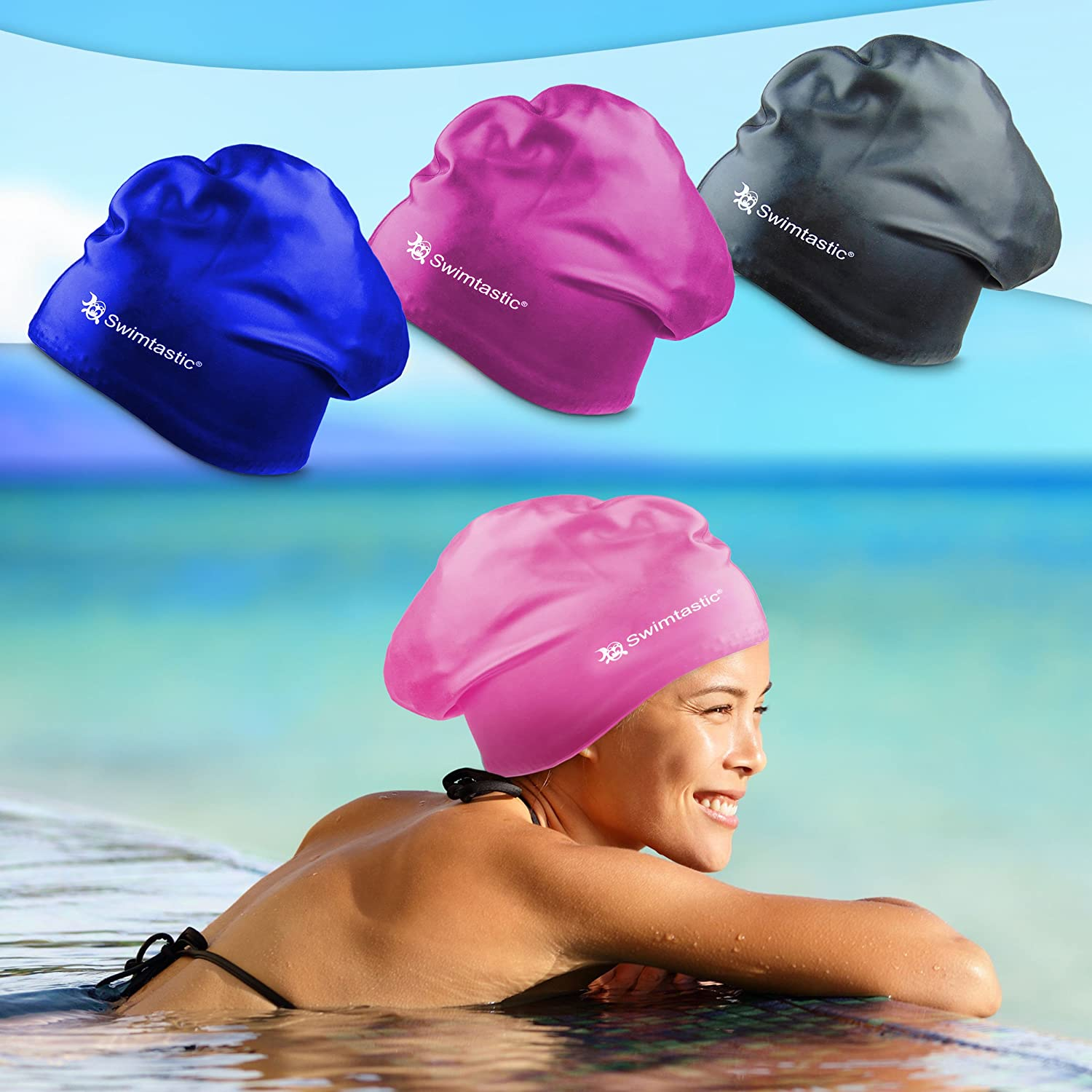 Ear Plugs Thick Specially Designed for Swimmers with Long Swimtastic/® Long Hair Swim Cap or Curly Hair