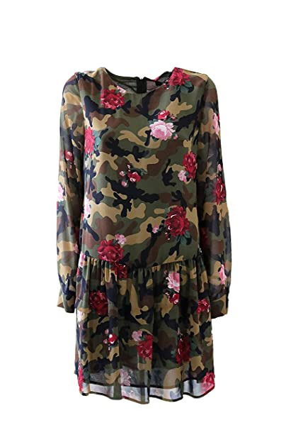 detailed look 3d685 744a1 Abito Donna Twin Set JA82PC Camouflage Rose Autunno Inverno ...