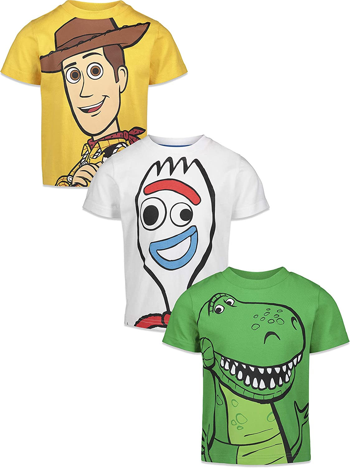 Disney Pixar Toy Story 3 Pack Graphic Short Sleeve T-Shirts