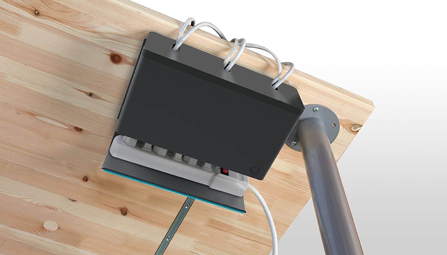 Quirky - Organizador de Cables para Debajo del Escritorio: Amazon ...