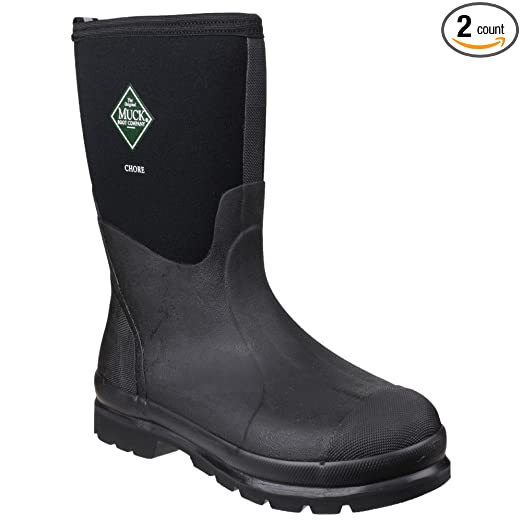 e80bff327f5 The Original MuckBoots Adult Chore Mid Boot Black Waterproof Snow Muck  Boots (Men's 12 M/Women's 13 M)