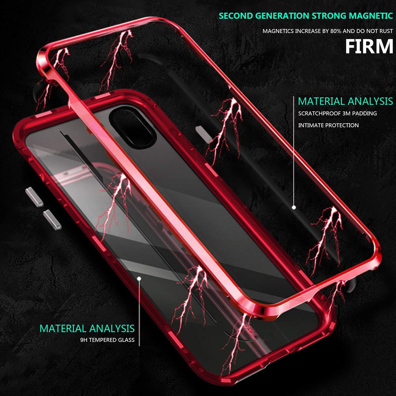 Caler Coque de Protection pour Samsung Galaxy A70 Protection int/égrale magn/étique Anti-Chocs Coque de Protection en Verre tremp/é /à 360 /° avec Protection arri/ère en Verre blind/é et arri/ère