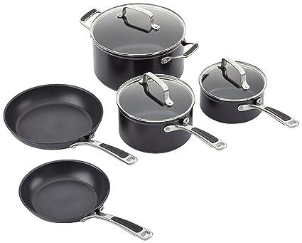 Kitchenaid KC2H1S08KD - Olla, Aluminio, 24 x 24 x 10 cm, Color Negro