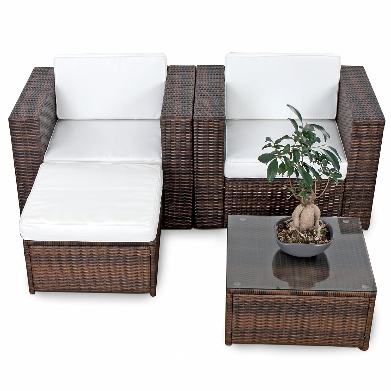 Loungemöbel set balkon  Amazon.de: erweiterbares 10tlg. Balkon Gartenmöbel Set Polyrattan ...