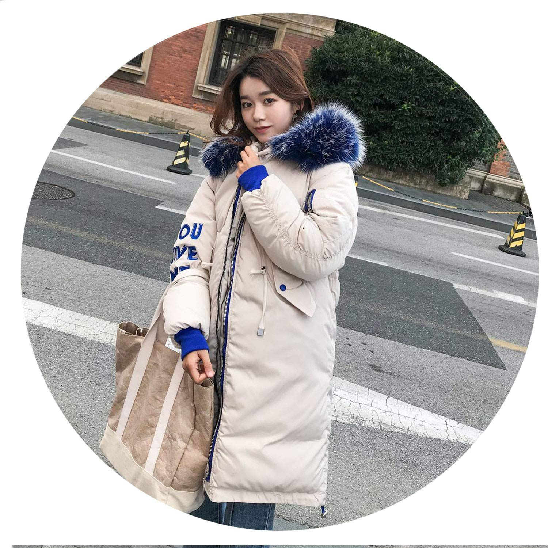 2 I'll NEVER BE HER 2018 New Oversized Coat Thick Winter Female Hooded Fur Cotton Long Coat et
