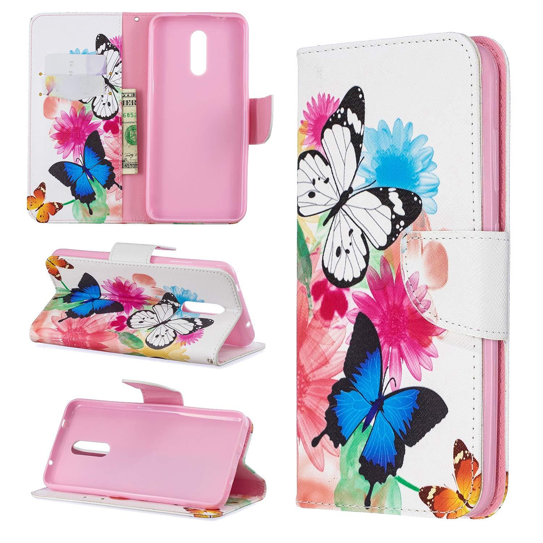 LOBFE050174 L4 Lomogo Nokia 3.2 H/ülle Leder Schutzh/ülle Brieftasche mit Kartenfach Klappbar Magnetverschluss Sto/ßfest Kratzfest Handyh/ülle Case f/ür Nokia3.2